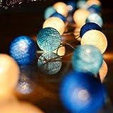 Cotton Ball Lichterkette, Eozfly Batteriebetrieben 3,5M 20 LED Kugel Lichterketten Partybeleuchtung...