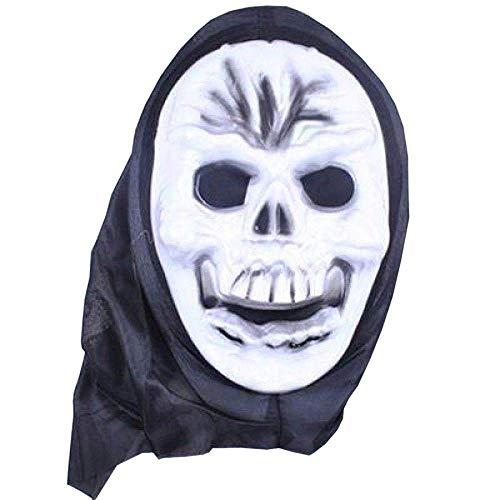 XIN Maske Maskerade Prom Maske Latex Hölle Männliche Horrormaske mit Geistern Halloween Kostüm Kopfbedeckung Skelett Mystisch Spuk Horror Halloween Thema