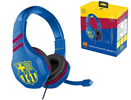 FC Barcelona Auriculares gaming accesorio gamer para PS4, PS4 Pro, Xbox One,...