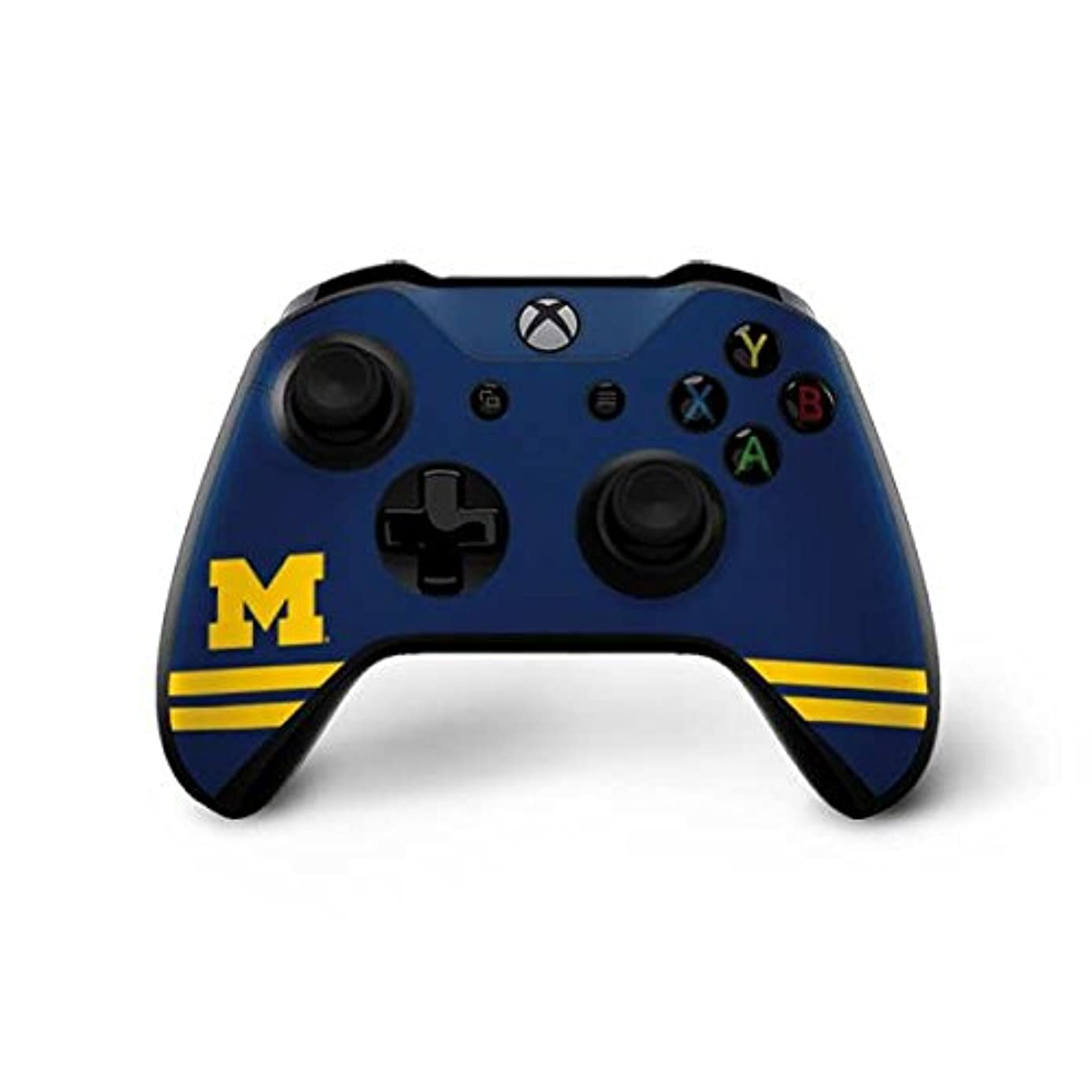 Skinit Michigan Logo Striped Xbox One X Controller Skin - Officially Licensed College Gaming Decal - Ultra Thin, Lightweight Vinyl Decal Protection
