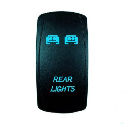 STVMotorsports 5 Pin Rear Lights Toggle Rocker Switch 20A 12V On-Off LED Light Bar Automotive UTV (Blue)