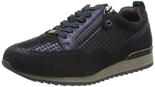 CAPRICE Damen Ginga Sneaker, Blau (Ocean Comb 880), 37 EU