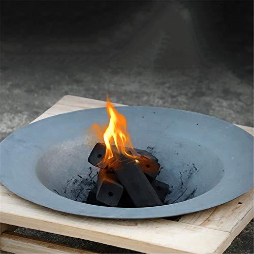 WSN Tavolo da buca per Il Fuoco a Carbone, Tavolo da Barbecue da Esterno con Supporto in Legno Braciere in ghisa, caminetto Campeggio Feste in Giardino Interni, falò, Riscaldamento, pozzo del Fuoco,B