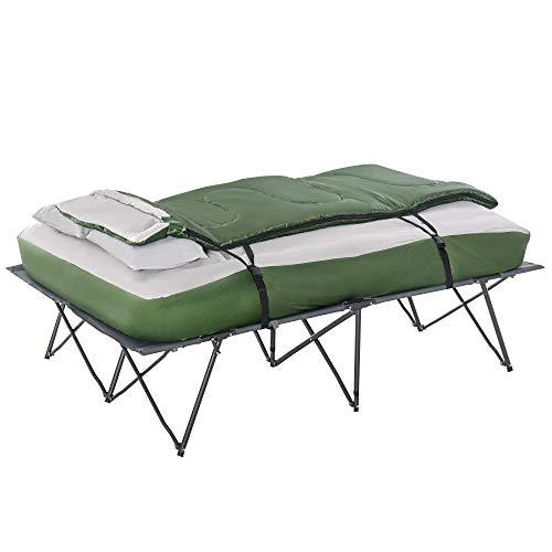Outsunny 2 Person Collapsible Portable Camping Cot Set