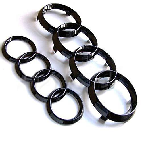 Schwarze Ring-Emblem für Vorder- und Rückseite, glänzend (Größe 1)