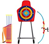 HJWL Kinder Bogenschießset mit Bogen, Saugpfeilen, Köcher und Zielscheibe ? tolles Outdoor Spielset