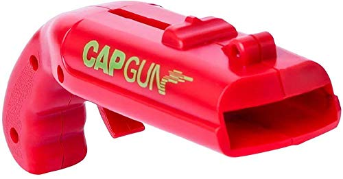 YSYPET Cap Launcher Shooter Bier Fles Opener, Drank Opener voor Home Bar Party Drinkspel (Rood)