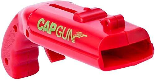 YSYPET Bier Fles Opener Cap Launcher Shooter Drank voor Outdoor Thuis Party Gebruik Mini Pistol Vorm (Rood)