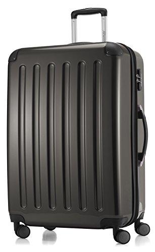 Hauptstadtkoffer- Alex - 4 Doppel-Rollen Großer Hartschalen-Koffer Trolley Rollkoffer Reisekoffer, 75 cm, 119 L, Graphit