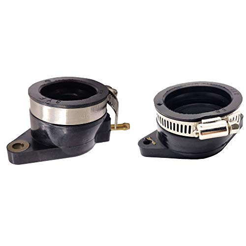 Left&Right Intake Manifold Carburetor Boots for 2001 2002 2003 2004 2005 Yamaha Raptor 660r 5LP-13586-01-00 5LP-13596-01-00