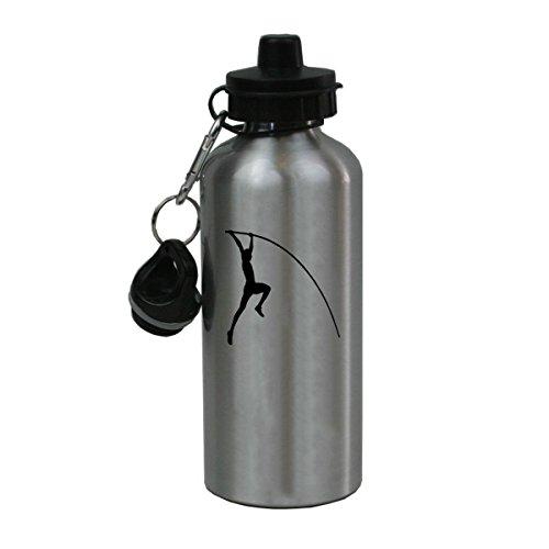 Personalized Custom Pole Vault, Track Aluminum Silver Finish 20 Ounce 600ML Sport Water Bottle Customizable