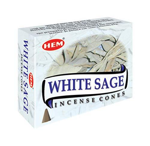 White sage cones pack of 12 ,10 cones Each Total 120 cones -HEM INCENSE