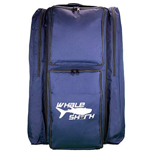 Bexamed Bolsa de buceo de 67 litros con función de mochila y bolsillos laterales para aletas, azul de nailon