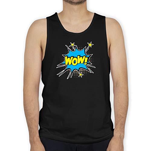 Shirtracer Karneval & Fasching - Popart Karneval Kostüm Wow! - 3XL - Schwarz - Kinderkarneval - BCTM072 - Tanktop Herren und Tank-Top Männer