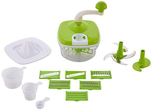 Machak 10in1 Advance Dual Speed Multi-Functional Food Processor - Atta Kneader,Dough Maker,Juicer with Chop, Dicer (Color May Vary)