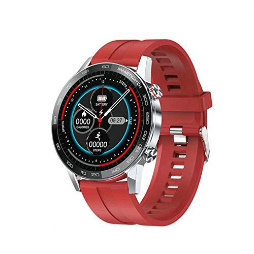 JXFF L16 Smart Watch Men's Bluetooth Smartwatch Hombre IP68 Impermeable Múltiples Modos De Deportes Control De Música Presión Arterial Pulsera Cardíaca Fitness Pulsera para Android iOS,D
