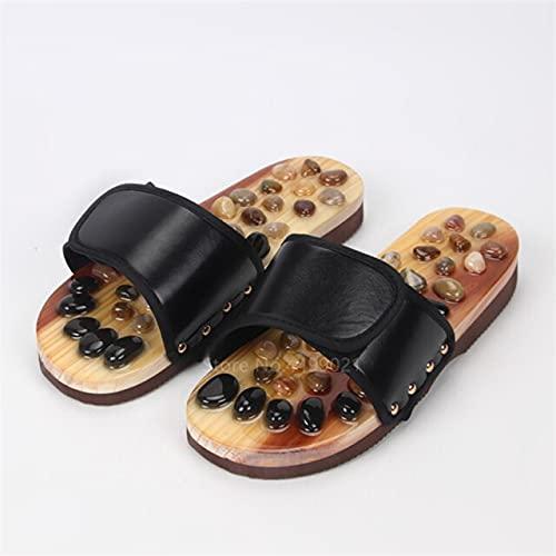 TONGTONG Chaussures de massage traditionnelles unisexes pour homme Ethic Geta Naruto Sabots en bois de samouraï