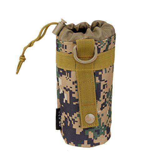 Bouteille deau Tactique Militaire Sac Bouteille Pouch Voyage deau Tactique De Camouflage Hydratation Porte Porteur pour Les Activit/és en Plein Air