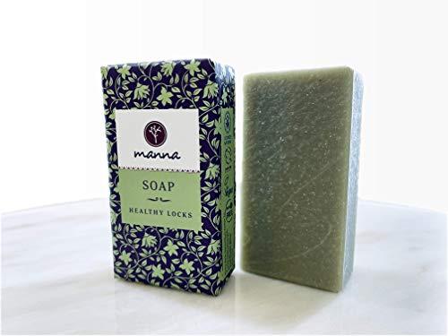 Manna Seife | Pflegt die Kopfhaut und reduziert Haarausfall | Seife für gesunde Strähnen | 90 g | Haarpflege für jeden Haartyp | 100% natürliche Inhaltsstoffe, Vegan, Palmölfrei, Tierversuchsfreiheit