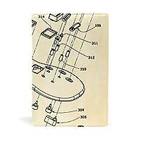 ブックカバー 文庫 A5に対応 おしゃれ ギター 音楽 計測器 電気 柄 文庫本カバー 本革 PU レザー製 読書 資料 収納入れ [並行輸入品]