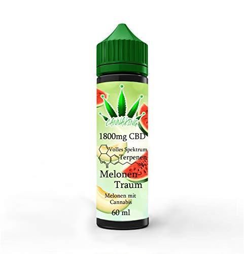 Canna King 600mg - 6000mg CBD Liquid 60ml MelonenTraum Melone mit Cannabis (1800mg)