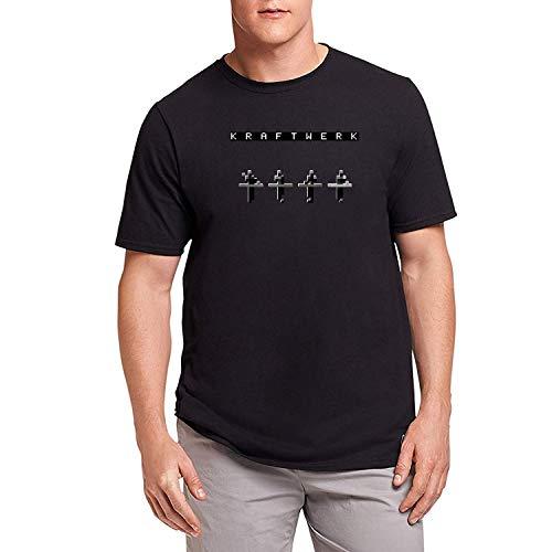 HAOSHUN Herren Kraftwerk Logo 1 T-Shirt Tee Top Shirt Black