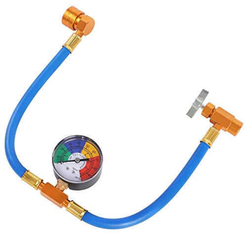N / A YSTOOL AC U Charge Hose with Gauge Car Refrigerant R134a Recharge Tool Kit Auto Air Conditioner Charging Hose 100PSI Low Pressure Measuring Meter R134a Can Tap Quick Coupler