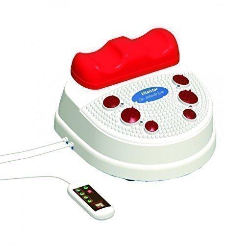 chi-enterprise Vitalstar Infrarot Chi-Massage-Gerät I entspannende 10 Stufen I Infrarot-Fuß-Reflex-Zonen-Massage I vitalisierende Chi-Maschine inkl. Timer, Fernbedienung u. Twister (Drehteller)
