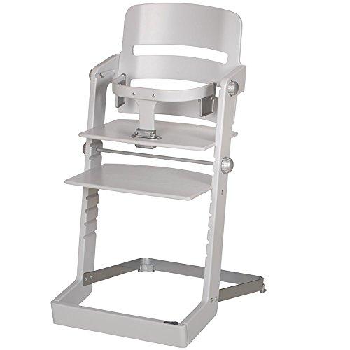 Geuther Tamino, meegroeiende hoge stoel, met metalen voet, uitneembare beugel, made in Germany Tamino lichtgrijs