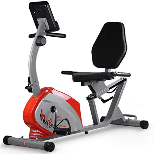 Fantastic Deal! ECHOV Indoor Exercise Bike Home Sports Exercise Bike, Horizontal Bike for Elderly Re...