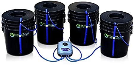 Deep Water Culture (DWC) Hydroponic Bubbler Bucket Kit by PowerGrow Systems (4) 5 Gallon - 6