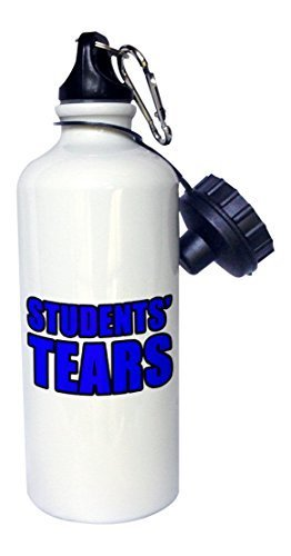 liandun étudiants larmes Bleu Sport bouteille d'eau, 21oz, blanc