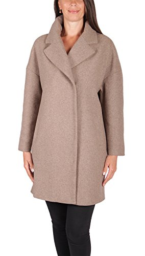Grimada A41 Damen Egg Shaped Coat Wolljacke COOTIC (48, braun)
