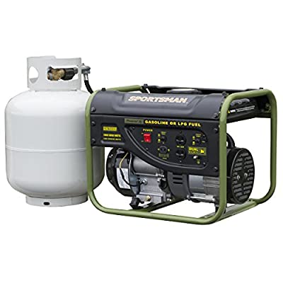 Sportsman GEN2000DF, 1400 Running Watts/2000 Starting Watts, Dual Fuel Powered Portable Generator