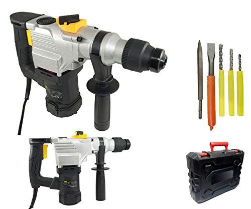 Trapano scalpellatore martello demolitore 1350w 28mm tassellatore 5 accessori