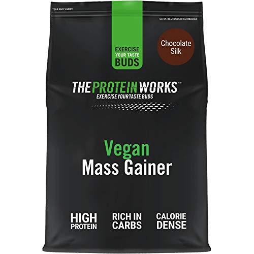 THE PROTEIN WORKS Vegan Mass Gainer | 100% a Base de Plantas | Alto en Calorías Para el Aumento de Masa | Chocolate Suave | 2kg