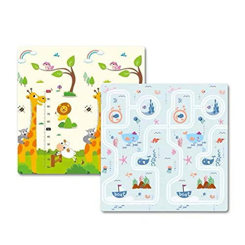 Doppelseitiges Spielmatte, Haushalt Baby Isomatte Sommer Kinderzimmer Bodenmatte Krippe Nacht Anti-Sturz-Matte (Color : C, Size : 200 * 180 * 1CM)