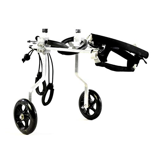 Yangqi rolstoel, voor honden, kleine katten, walk, rolstoel, verstelbaar, voor trolley met 2 wielen