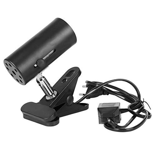Reptielamp met klembeugel houder voor warmtezender keramiek infraroodlamp (EU-stekker)