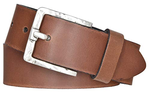 Mytem-Gear Damen Leder Gürtel Belt Ledergürtel Rindleder 40 mm Damengürtel (95 cm, Cognac)