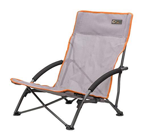 Portail Amy Chaise de Plage en textilène Camping Fauteuil de pêche Chaise avec accoudoirs