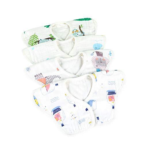 baberos drool ,bandana bebe,suave y agradable para la piel,fuerte absorción de agua,fácil de limpiar,giratorio de 360 °,diseño de botón a presión doble,se puede usar para niños menores de 2 años