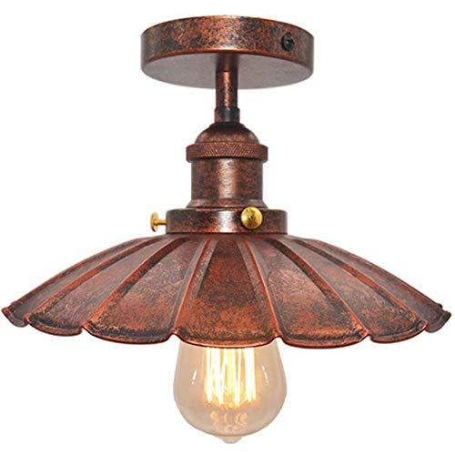 Deckenlampe Vintage Lampe Industrial Design E27 Regenschirm Deckenleuchte Lampenschirm Aus Metall-Rost