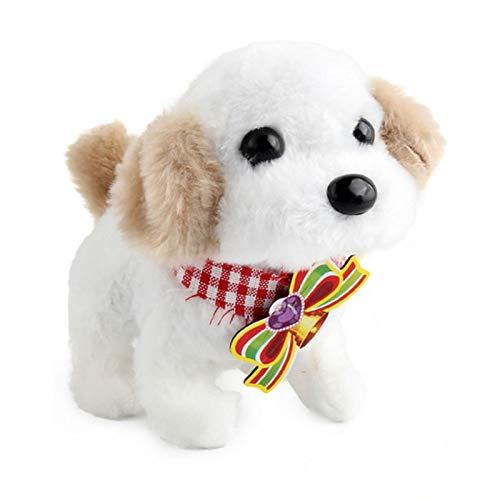 iBaste Elektronischer Hund Plüschtier - Plüsch Hündchen Walking Barking Elektronisches Interaktives Haustierspielzeug Für Kinder