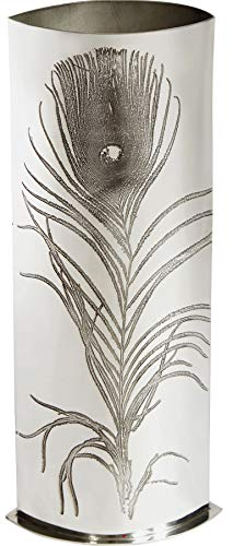 V and A Licensed Peacock Collection - Large 300mm Pewter Vase