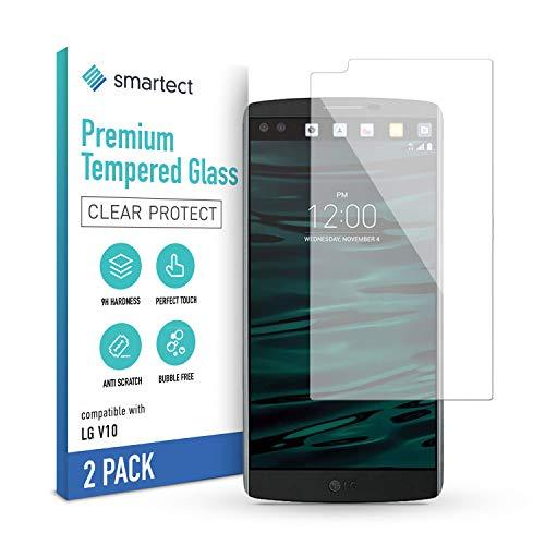 smartect Panzerglas kompatibel mit LG V10 [2 Stück] - Tempered Glass mit 9H Festigkeit - Blasenfreie Schutzfolie - Anti Fingerprint Panzerglasfolie
