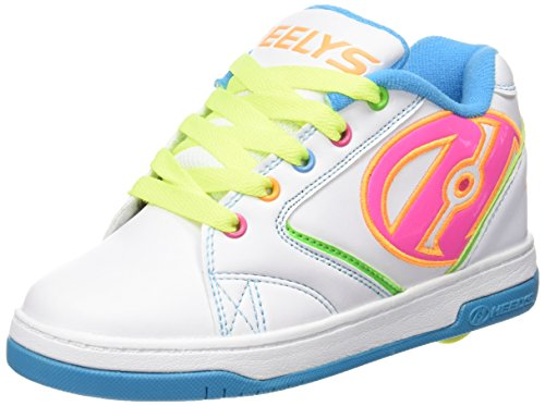 Heelys Propel 2.0 770514, Mädchen Lauflernschuhe Sneakers, multi (White/Neon Multi), 35 EU (3 UK)