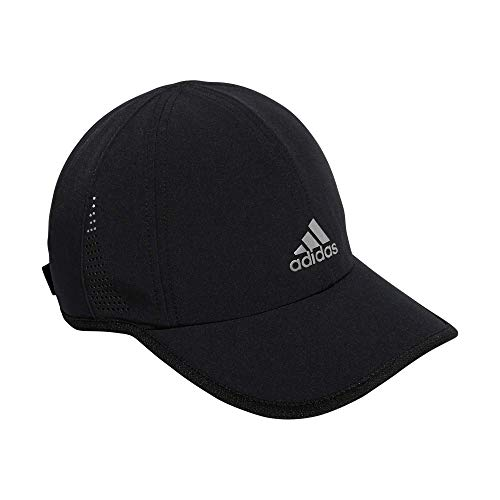 adidas Women's Superlite 2 Relaxed Adjustable Performance Cap, Black/Silver Reflective, One Size