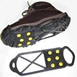 Sports Imports LLC Dual Traction Shoe Cleats for Walking, Jogging, or Hiking on Snow and Ice (XL)