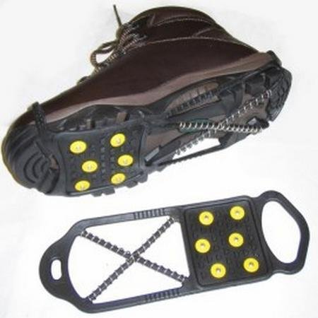 Sports Imports LLC Dual Traction Shoe Cleats for Walking, Jogging, or Hiking on Snow and Ice (M)
